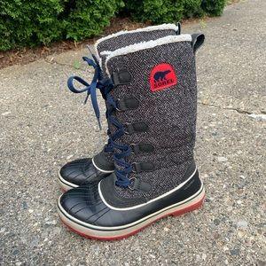 Sorel Tivoli High Gray Tweed Winter Boot